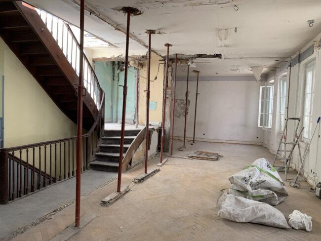 Demolition in progress in rue des  Mineurs project