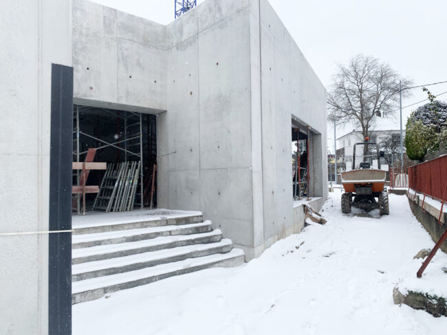 W.i.p *under the snow* at Gutenberg school
